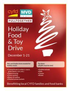 MVD CYFD Food & Toy Drive