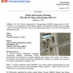 NMDOT Public Information Meeting NM 186 Project
