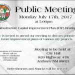 City of Anthony NM ICIP Hearings
