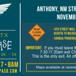 Anthony NM/TX Flying Horse Half Marathon 10K – 5K Event 11/18/2017
