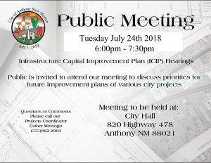 Infrastructure Capital Improvement Plan @ Council Chambers
