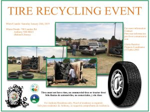 Tire Recycling Event @ Former Anthony Charter School Site