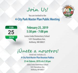 Public Meeting - 4 City Park Master Plan @ Loma Linda Elementary