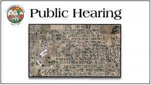 Public Hearing - to report on the Adam's Park CDBG Project and to receive public input on community development needs and suggestions for future CDBG projects. @ City of Anthony Municipal Complex