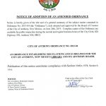 Notice of Adoption of An Amended Ordinance