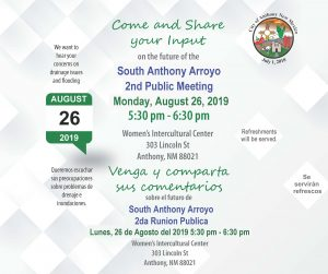 Public Meeting - South Anthony Arroyo 2nd Public Meeting @ Women's Intercultural Center