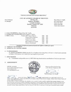 Board of Trustees (BOT) Meeting – Notice of Reconvened Meeting