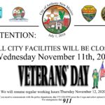 City Closed For Veterans Day