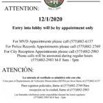 City Partially Reopens 12/01/2020