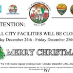 City Closed for Christmas Eve and Christmas Day