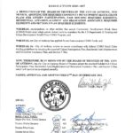 Notice of Adoption of Resolution 2021-007
