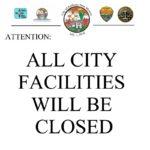 City Facilities Closure Notice – Memorial Day