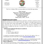 New Employment Opportunity – Police Sergeant July 6, 2021