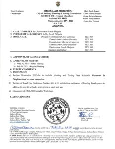 Planning and Zoning (P&Z) Commission Regular Meeting Discussion Review Resolution 2012-04 to include Planning and Zoning  Fees Schedule @ City Municipal Complex